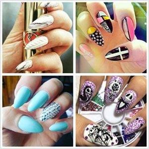 natural looking short acrylic nails