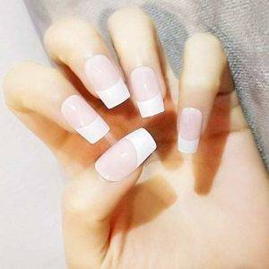 pink and white ombre nails
