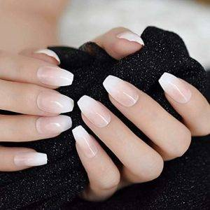 4 best fake pink and white ombre nails coffin  nail place