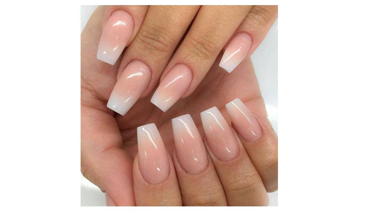 4 Best fake pink and white ombre nails coffin | Nail Place