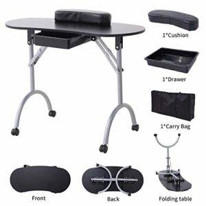Murtisol Folding Manicure Nail Table Station