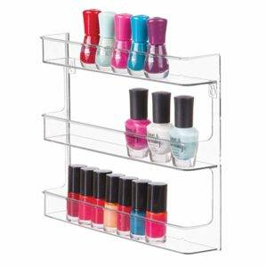 InterDesign Clarity Wall Mount Nail Polish Storage