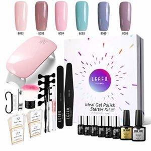 professional gel nail kit with UV light
