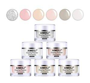 AIMEILI Nail Art Powder 6 Colors